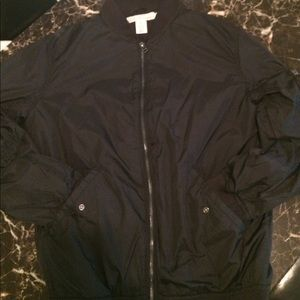 H&M Jackets & Coats - Men's Black Lightweight Bomber Jacket